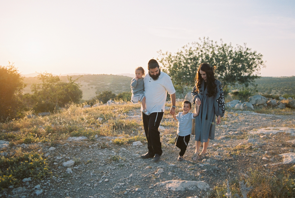 Portrait of Family Walking in Ella Valley Israel - Sigala Photography
