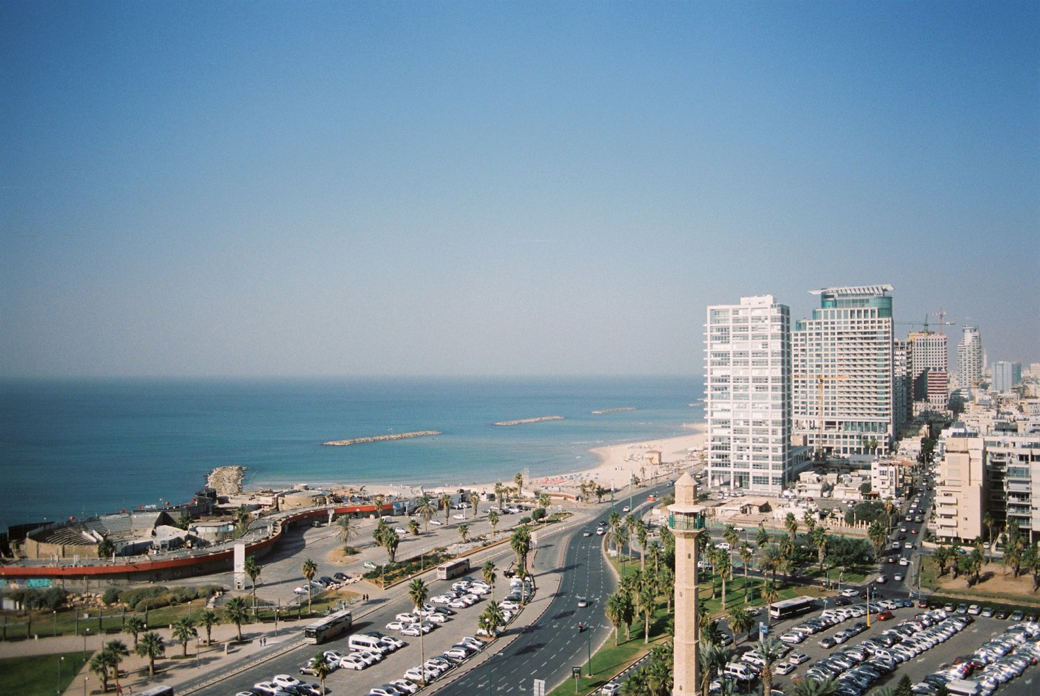 View of Tel Aviv coastline as seen from David InterContinental Hotel