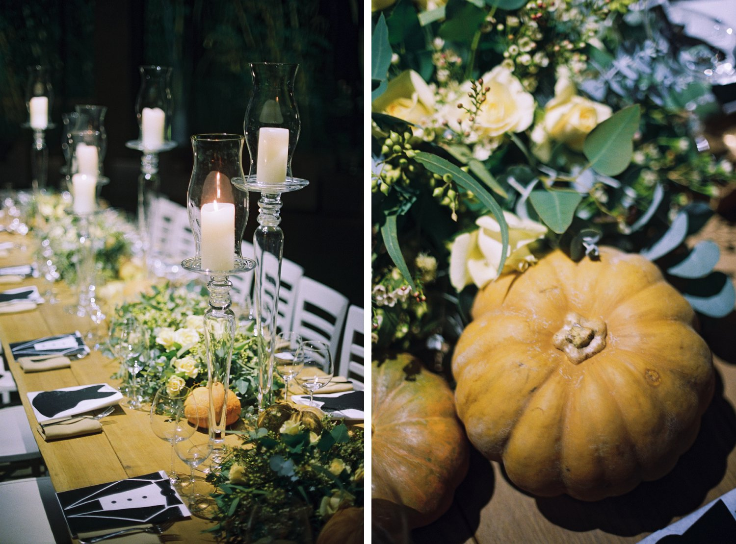 Thanksgiving themed table settings and design at Baya'ar wedding