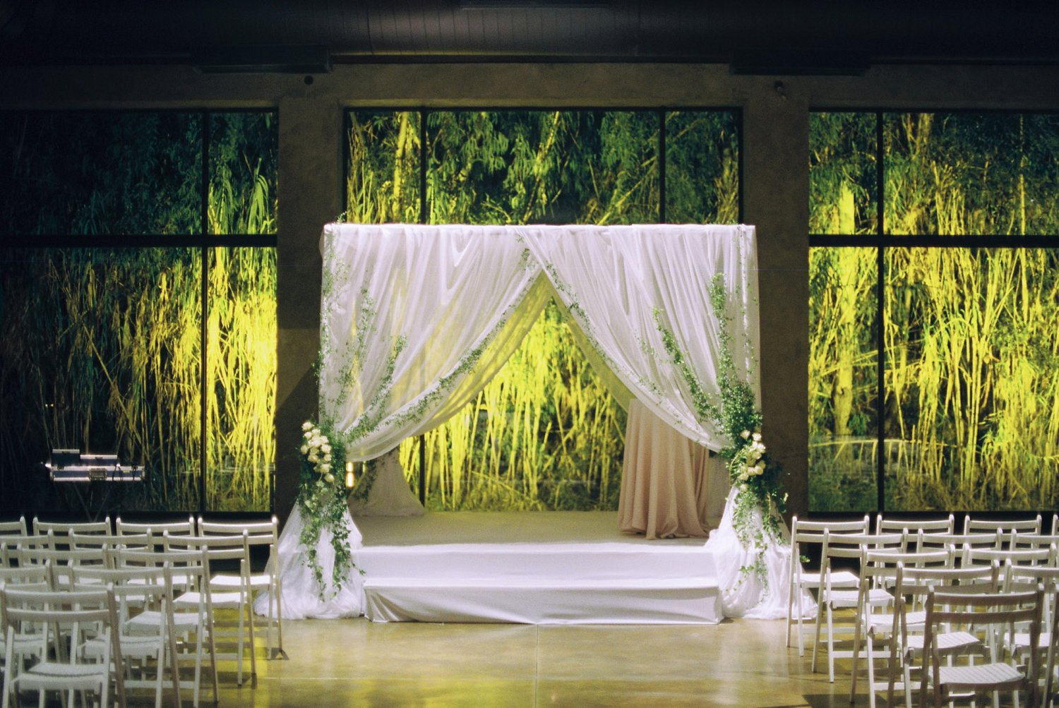 Indoor chuppah at Baya'ar wedding