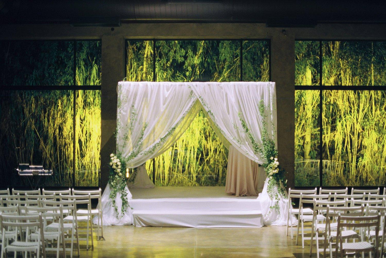 Indoor chuppah at Baya'ar wedding