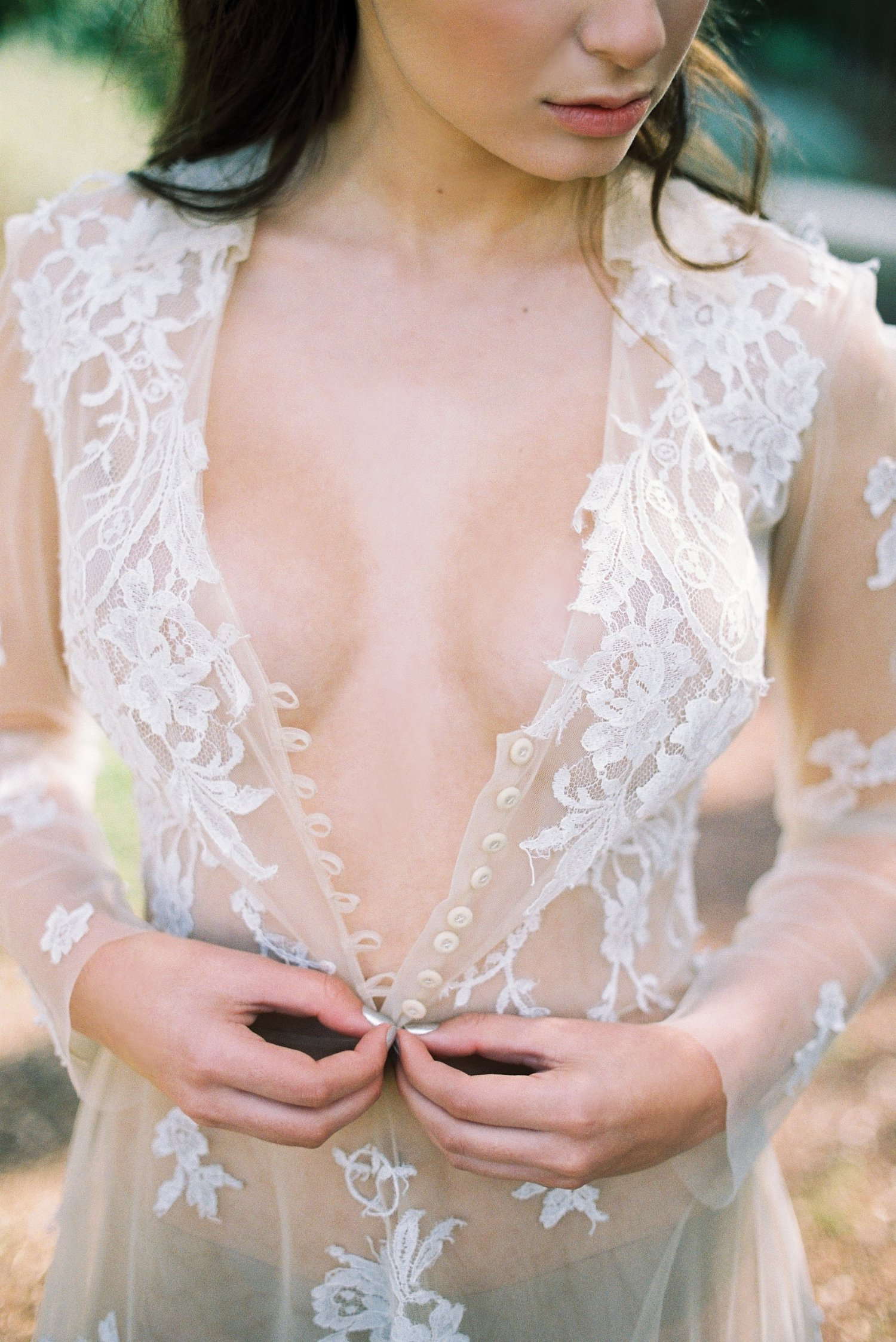 Lace detail on lingerie from Jerusalem bridal boudoir