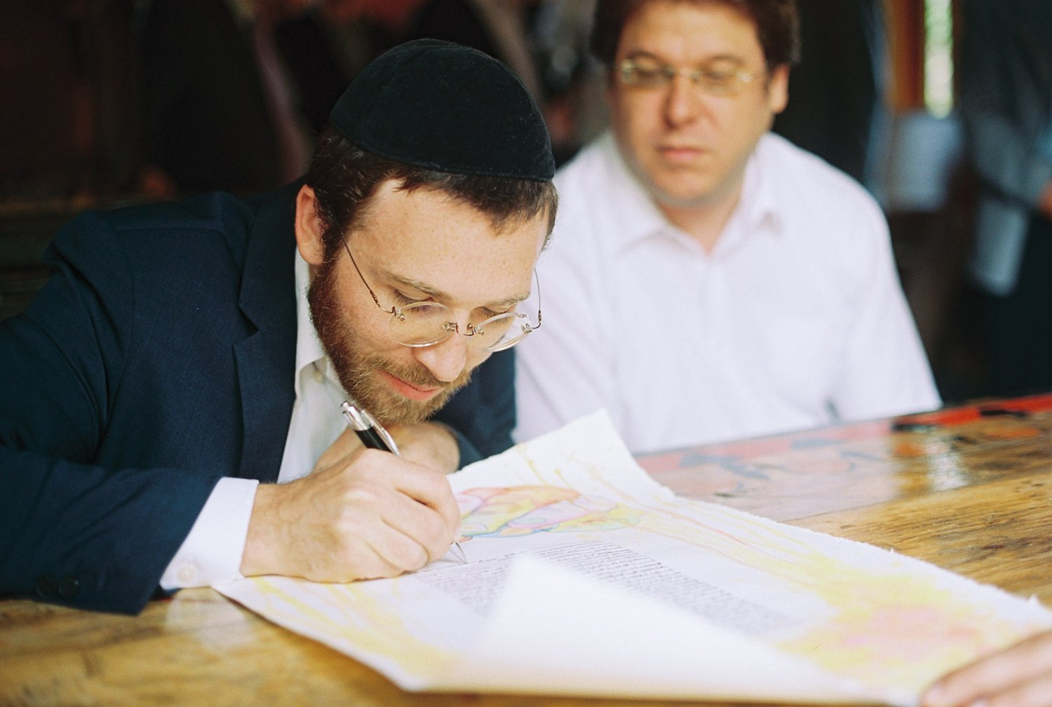 Ketubah signing at New Park Ithaca Wedding