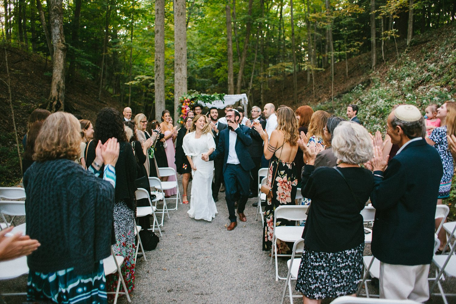 Recessional at New Park Ithaca Wedding